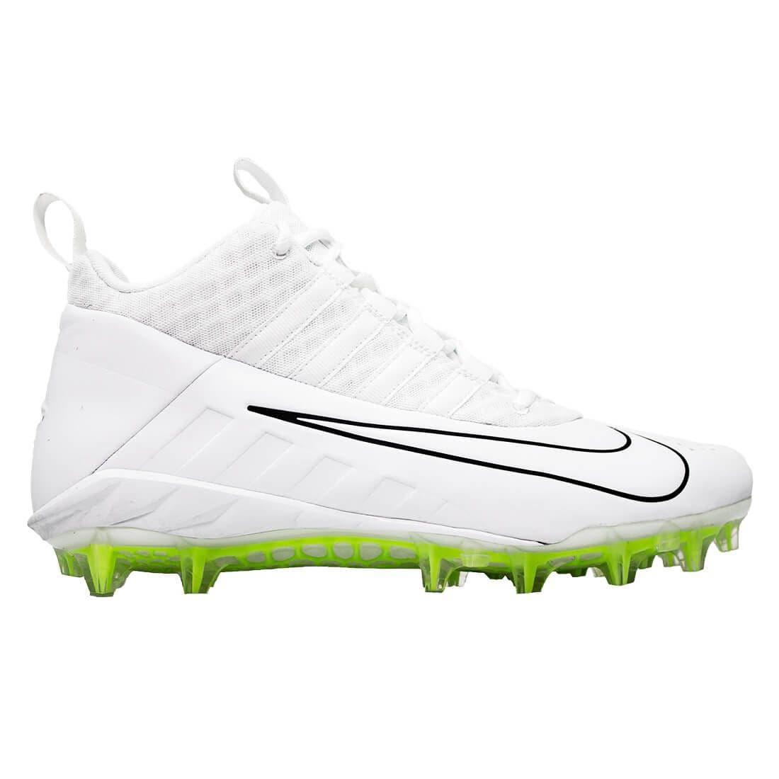 Nike Alpha Huarache 6 Pro LAX Lacrosse Cleats in white ...
