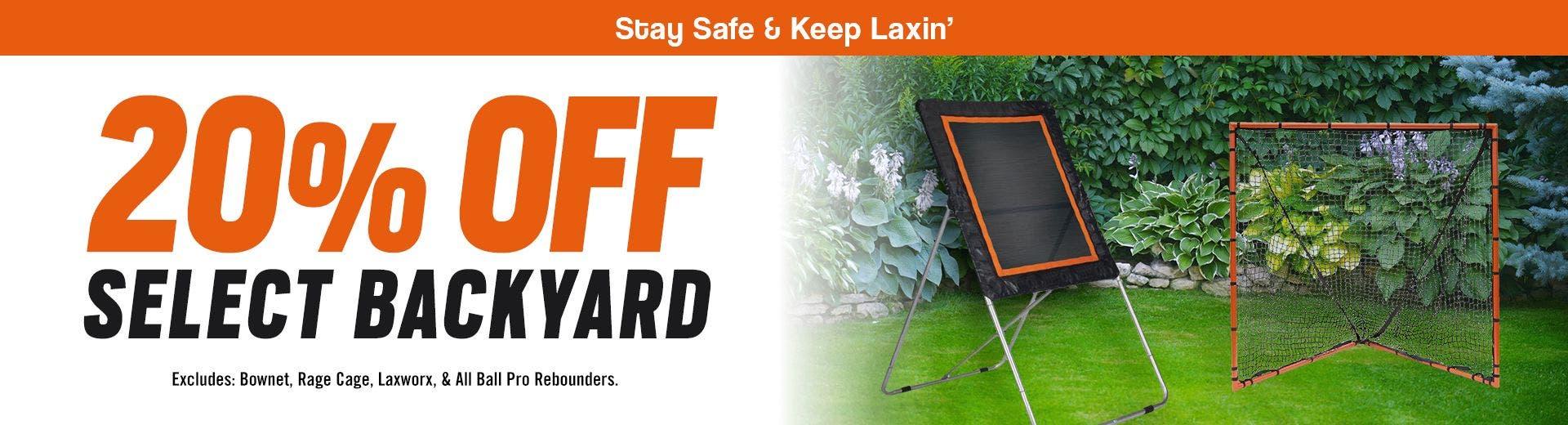 20% Off Backyard Training Gear - DESKTOP