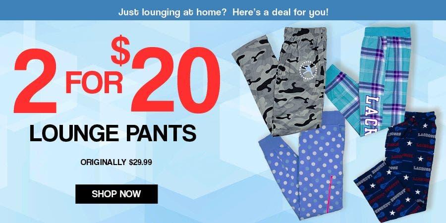 MOBILE - 2 For $20 Lounge Pants
