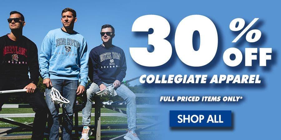 MOBILE - 30% Off Collegiate Sale