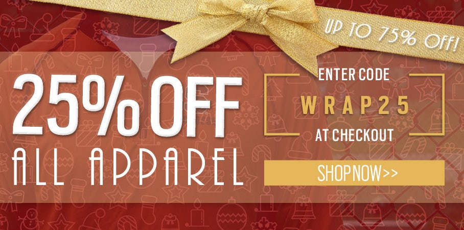 25% OFF ALL APPAREL (USE CODE: WRAP25)