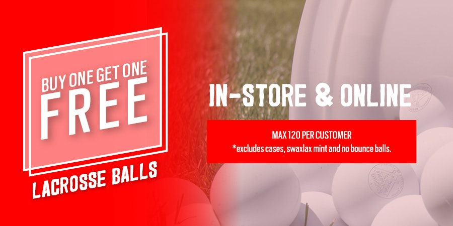 MOBILE BANNER - Buy One Get One Free Lacrosse Balls