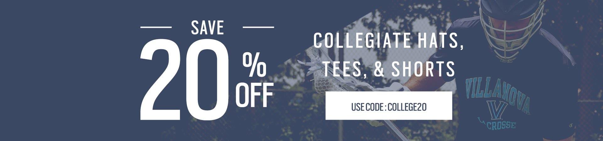 20% Off Full Price College Apparel
