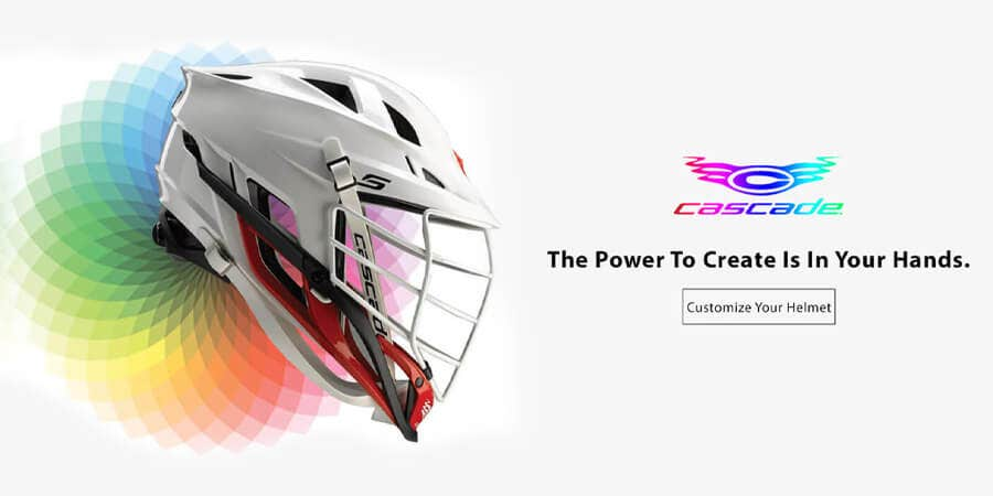 Create your own personalized lacrosse helmet in your teams colors with our customizer!