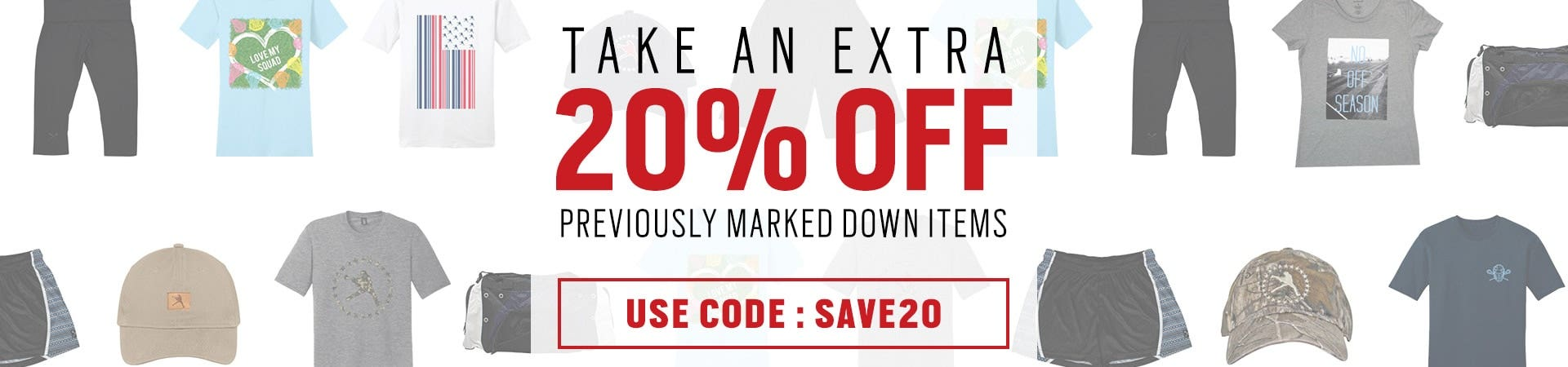 EXTRA 20% OFF SALE ITEMS (USE CODE SALE20)