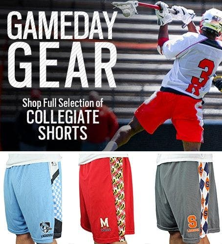 Shop Mens Collegiate Lacrosse Shorts