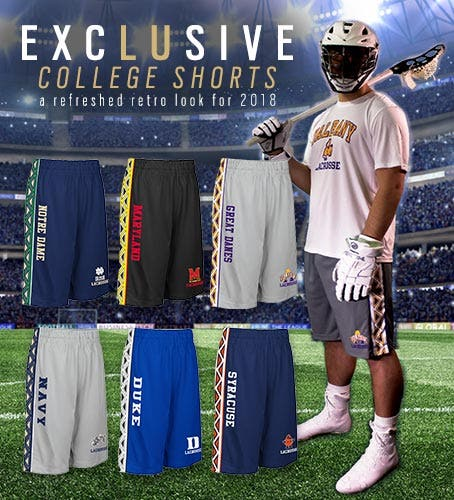 Shop Mens Collegiate Lacrosse Shorts