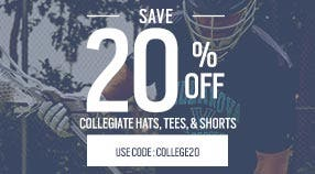 20% Off College Apparel