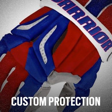 Custom Lacrosse Helmets, Gloves, and Pads