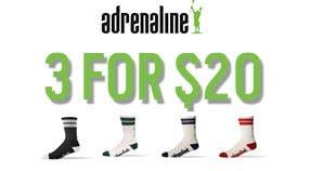3 for $20 Socks